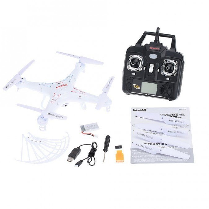Syma X5C (kamera 2MP, 2.4GHz, żyroskop, zasięg do 50m, 31cm)